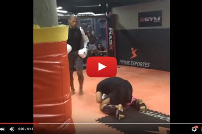 Video: Jacare Souza is terrifying, drops two sparring partners with brutal body shots