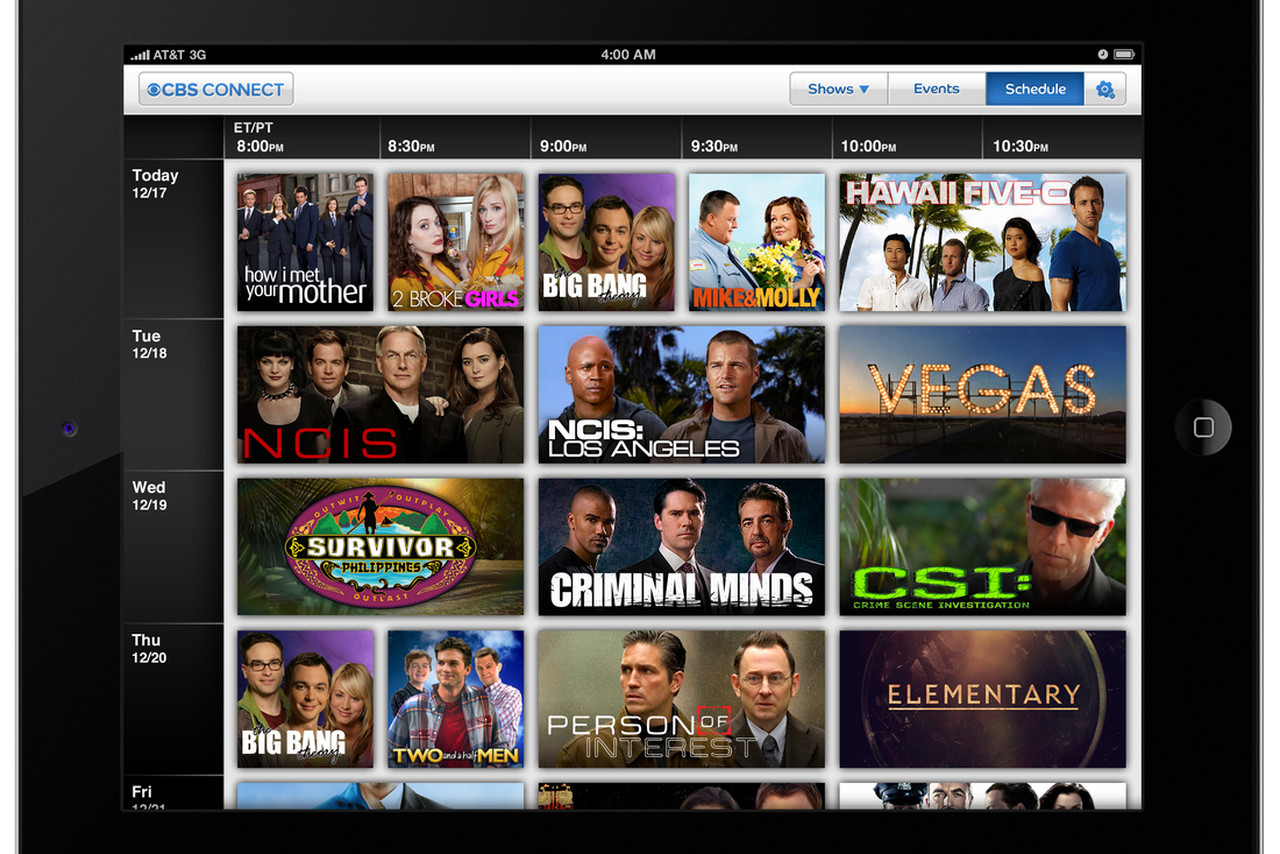 how to stream cbs live on ipad