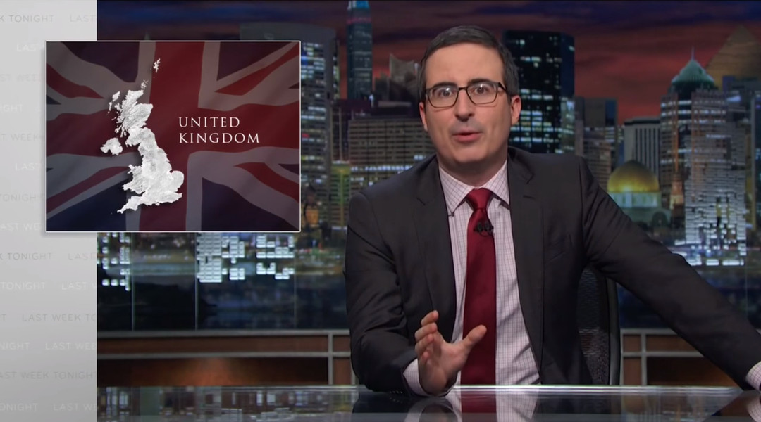 Watch: John Oliver's glorious rant in response to Brexit