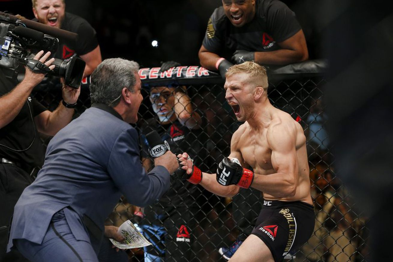 community news, Morning Report: T.J. Dillashaw says old Urijah Faber isnt deserving of title shot, ready to step in when he pulls out