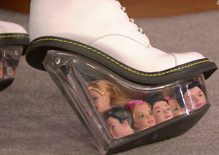the ugliest shoes in the world racked
