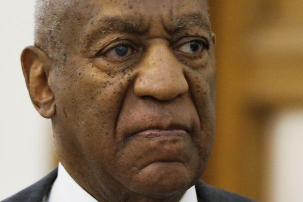 Cosby, leaving the courthouse