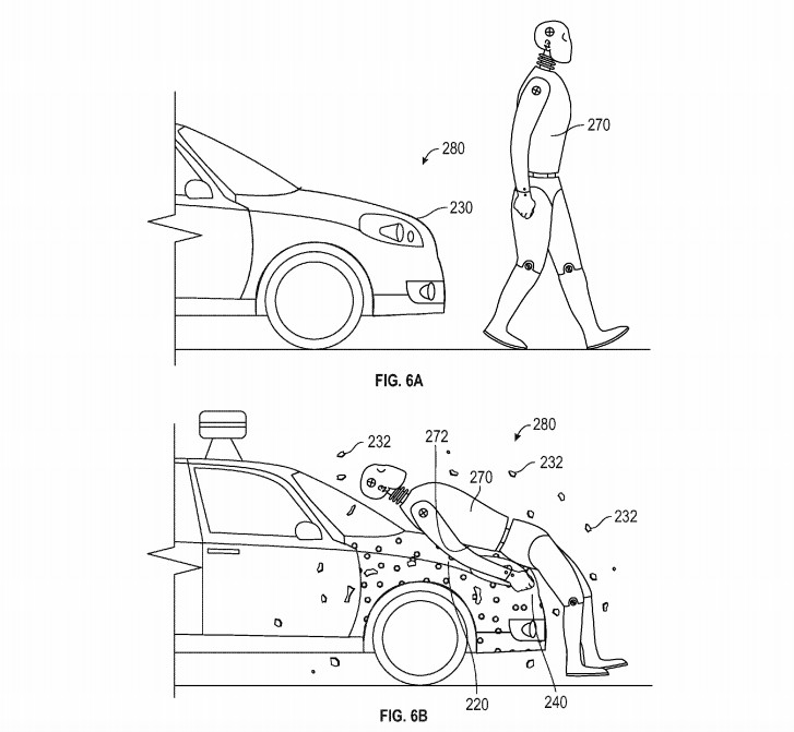 google car patent sticky