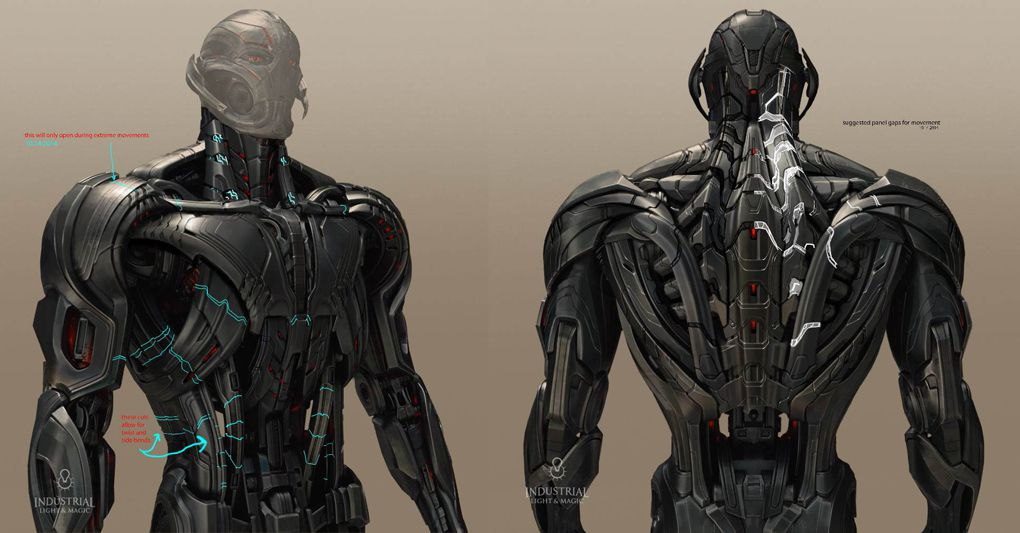 Ultron Concept Drawings Ilm