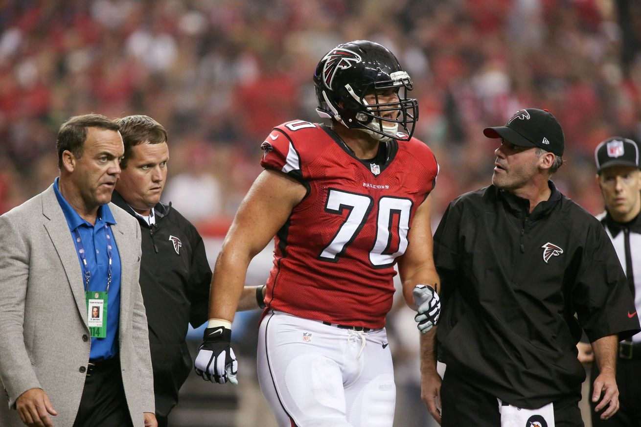 NFL Jerseys - Falcons Injury Report: Jake Matthews has ankle injury, status ...