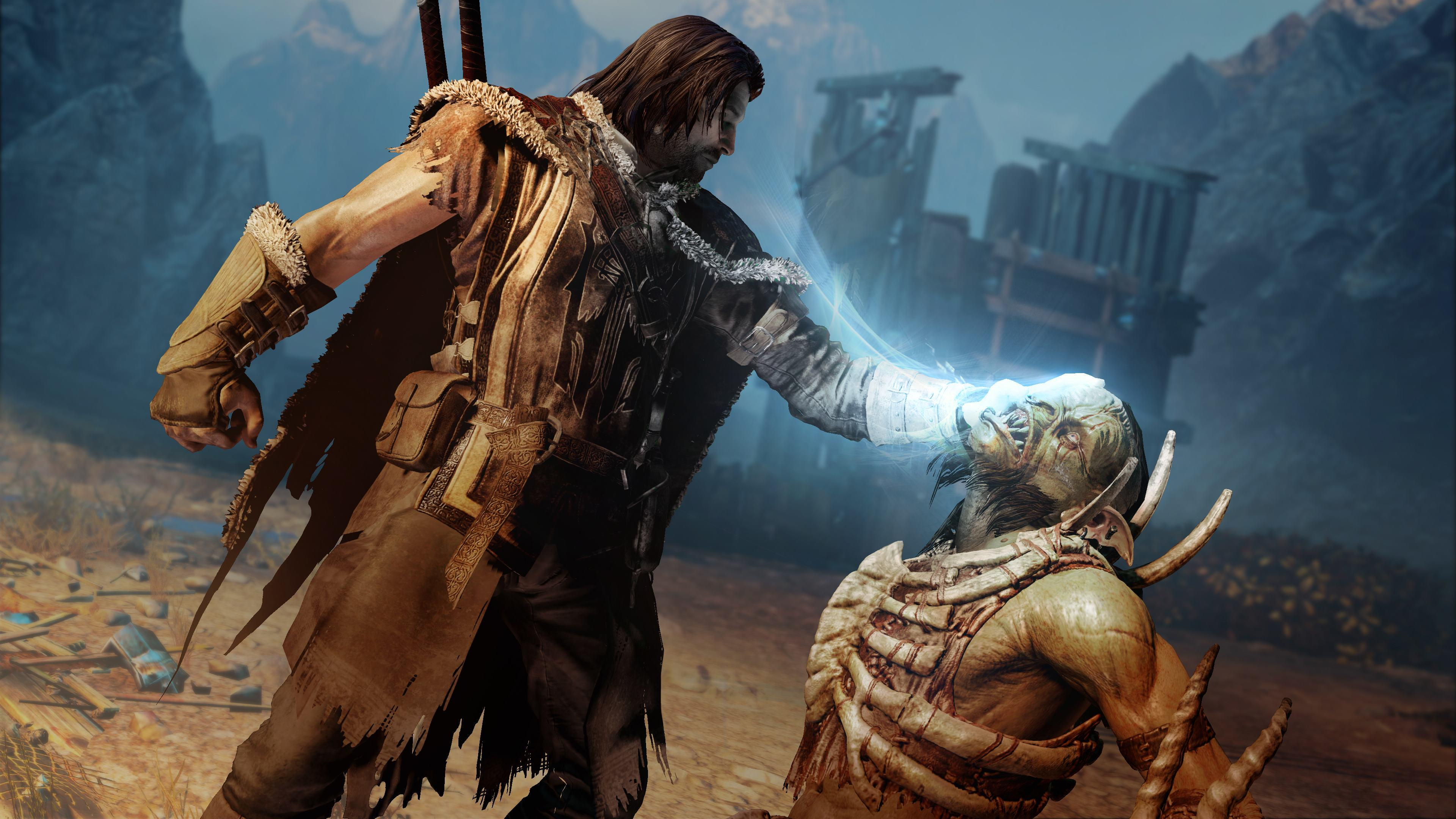 Image result for shadow of war dominating an enemy xbox