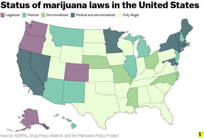 new highs marijuana now in alaska oregon and washington dc the verge