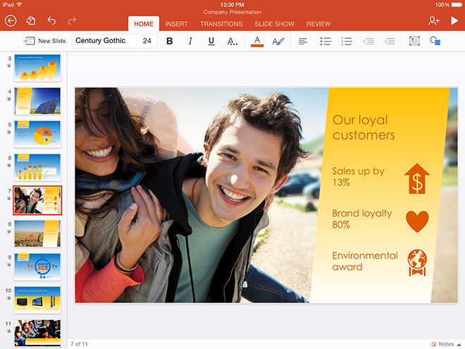 Office iPad screenshot