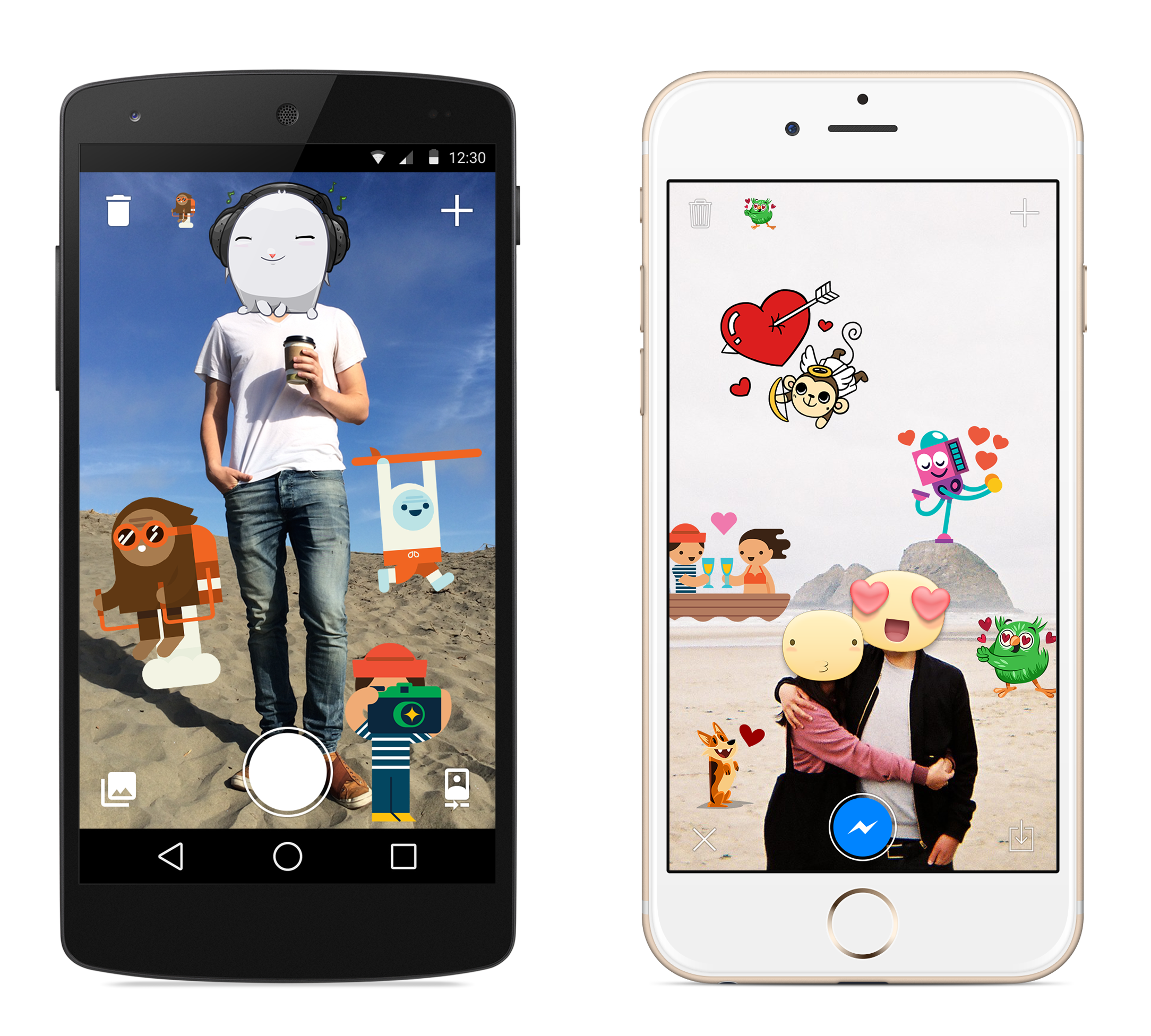 Facebook Releases A New App For Covering Your Photos In Stickers The Verge