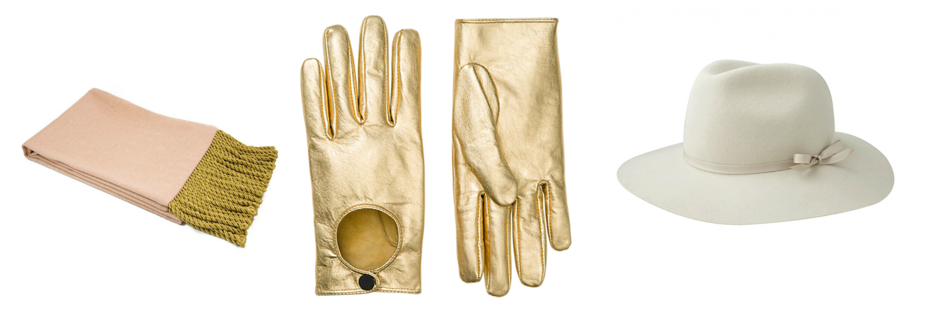 Gold driving gloves - In God We Trust Napoleon Scarf 80 Kate Spade Saturday Gold Driving Gloves 75 Otte New York Alexis Hat 158