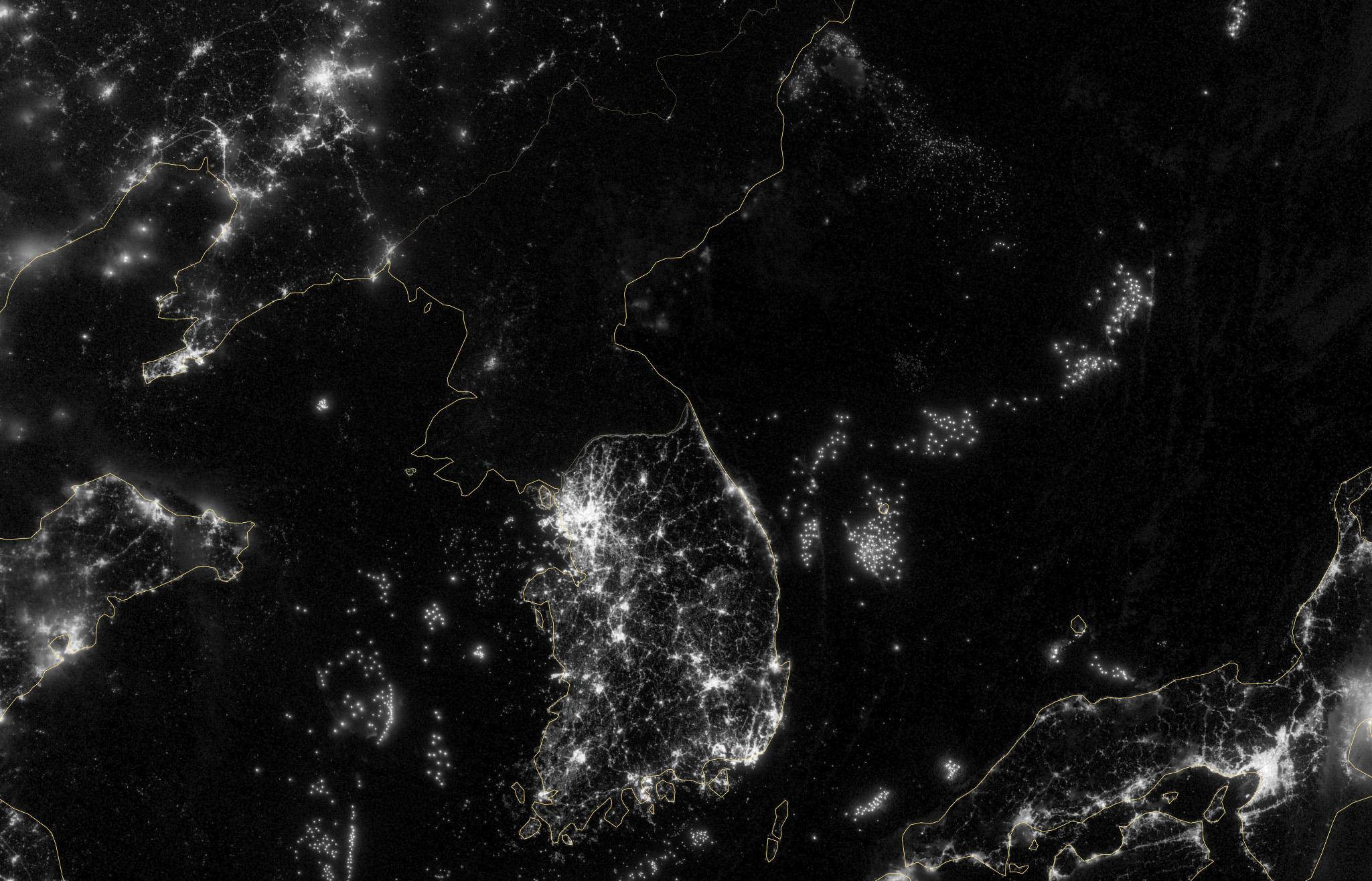 North Korea Defends Blackout Satellite Photos The