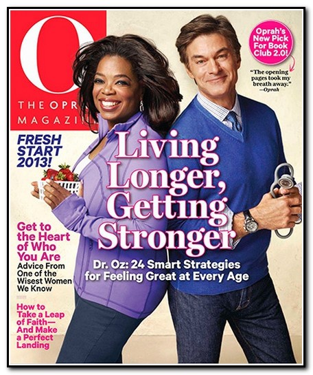 Dr oz on the cover of o magazine