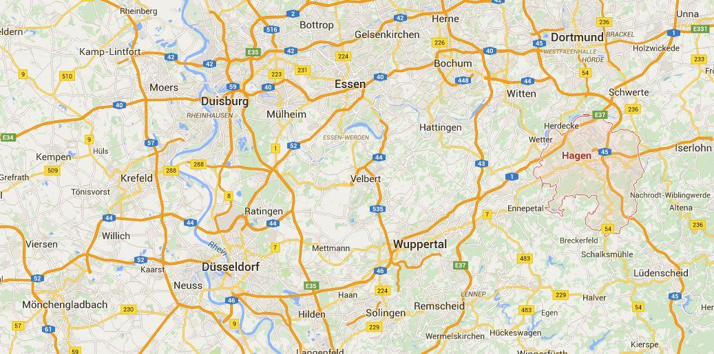 Hagen Germany map