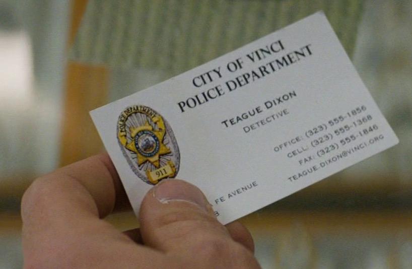 Teague Dixon's business card
