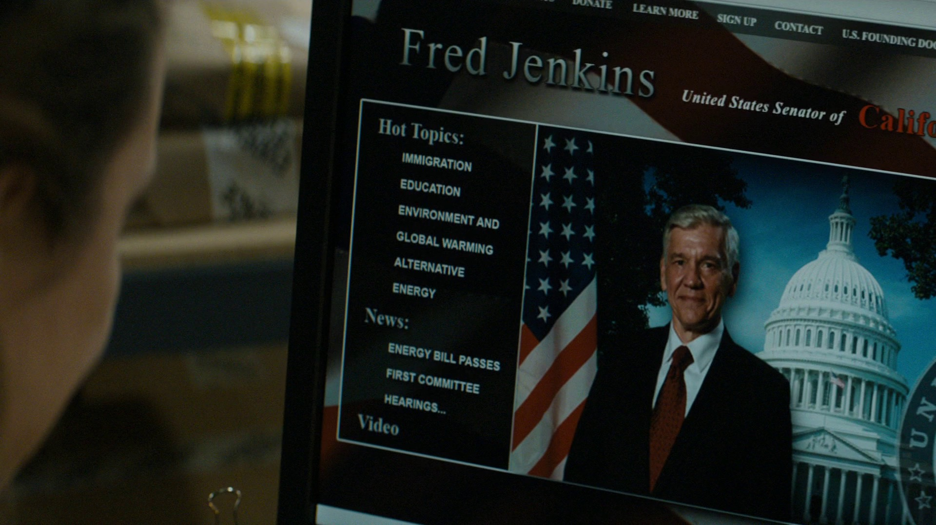 Fred Jenkins, senator, partier