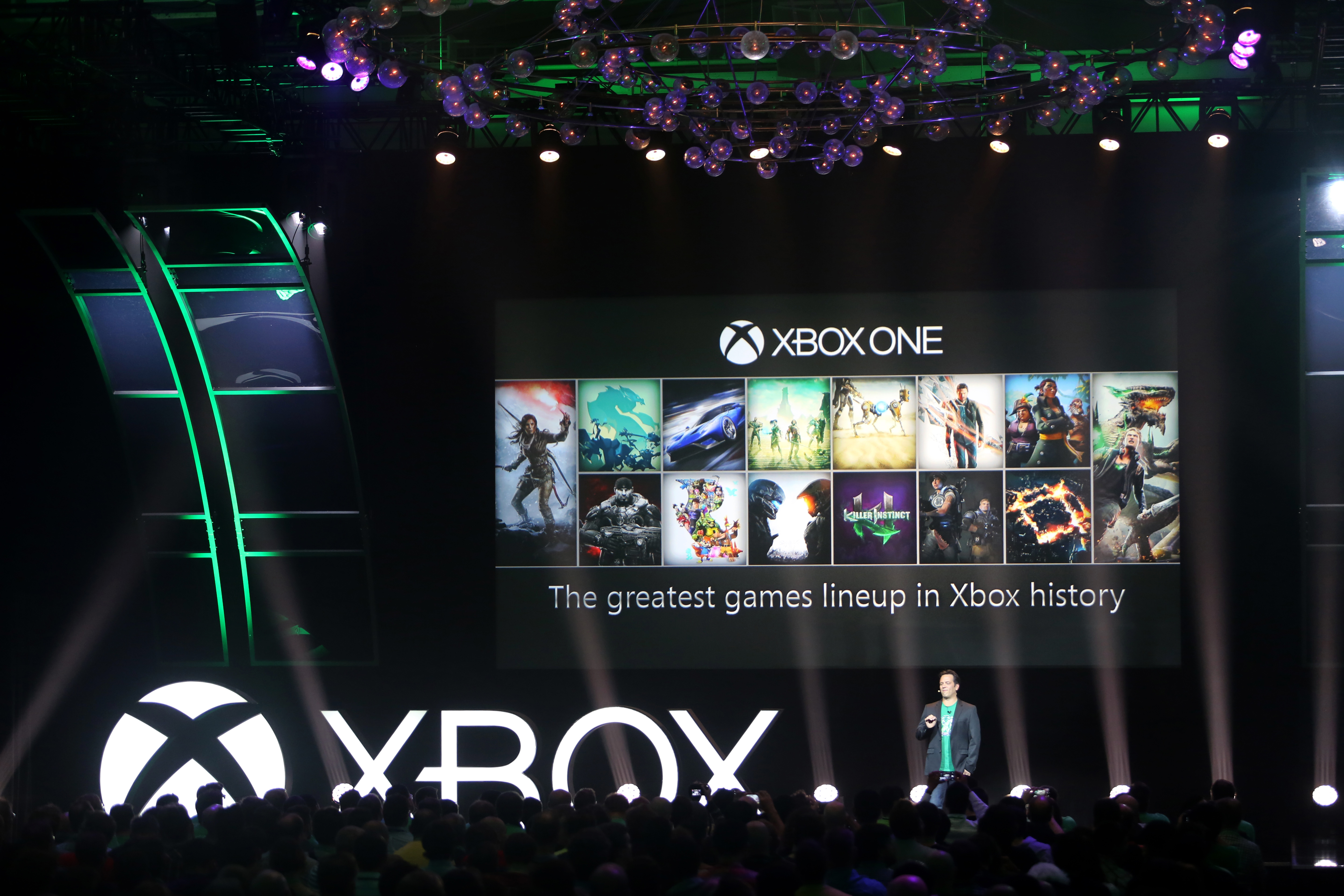 Phil Spencer on stage at Gamescom 2015