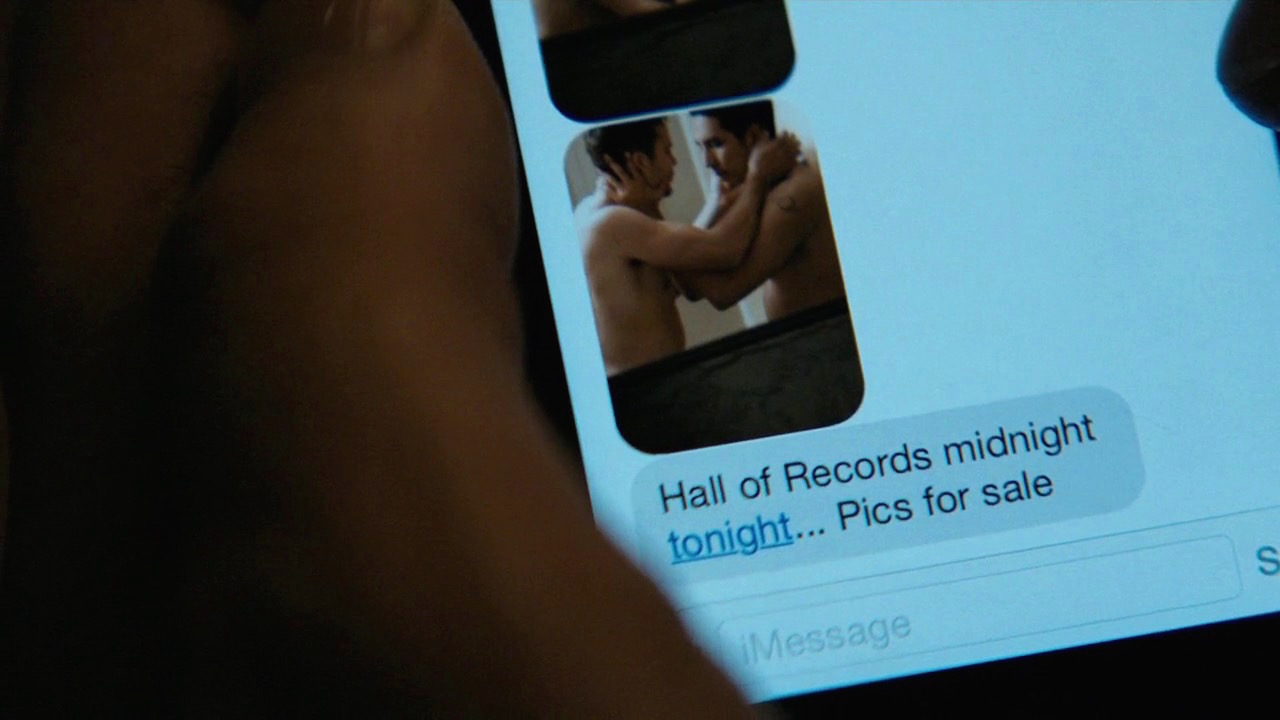Paul's text saying to meet at the Hall of Records
