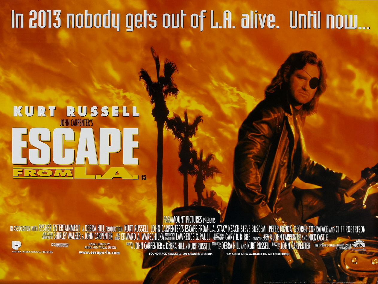 Image result for escape from la poster
