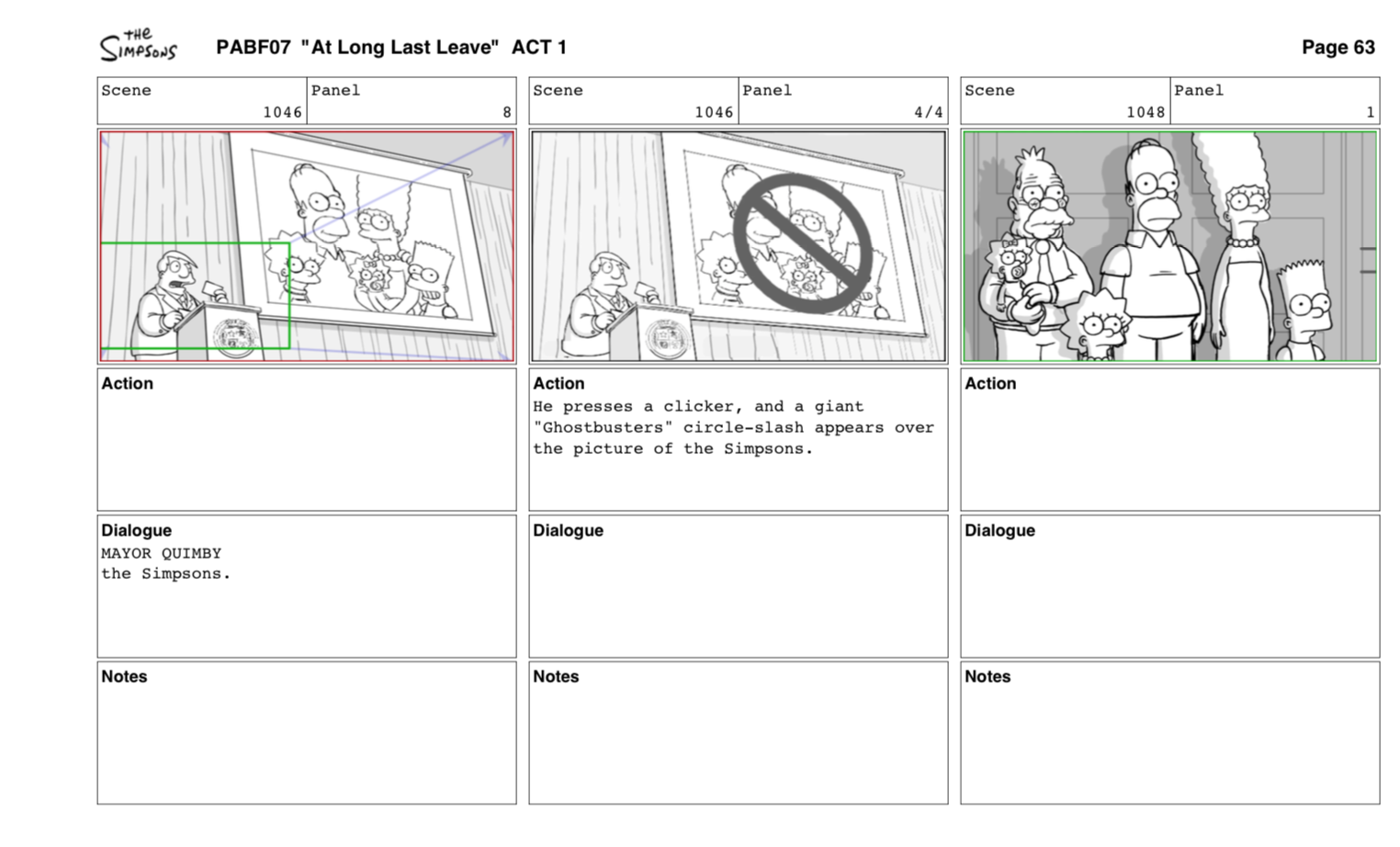 interactive storyboard template - how an episode of the simpsons is made the verge