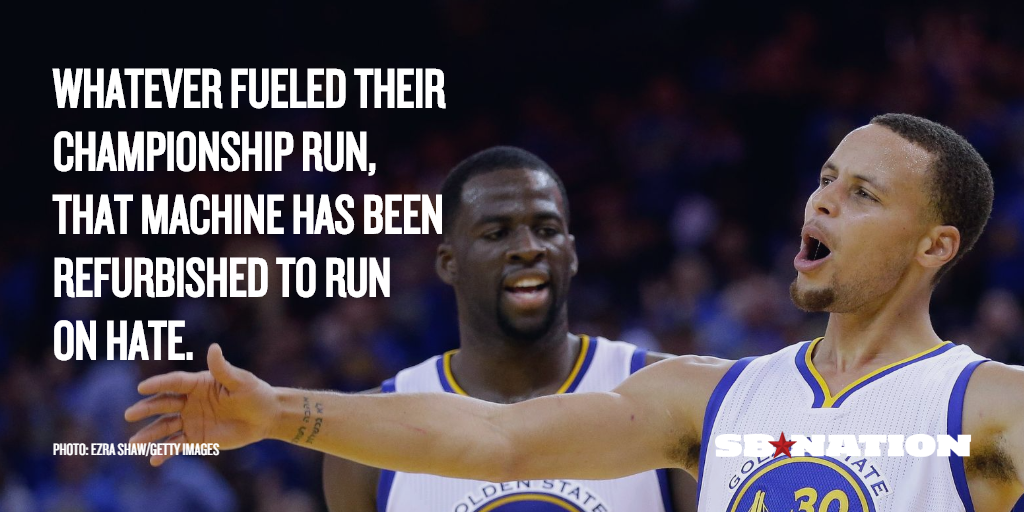 Its Time To Hate The Warriors They Want It