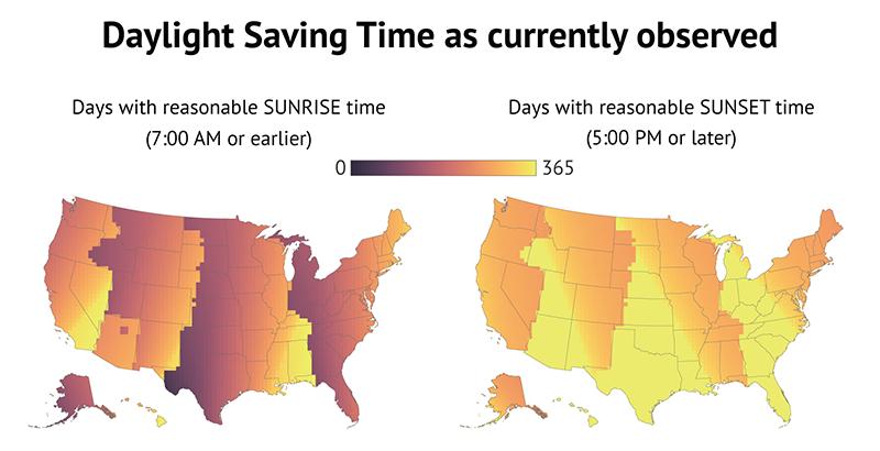 Daylight Savings Time Arizona >> The awfulness of daylight saving time, mapped - Vox