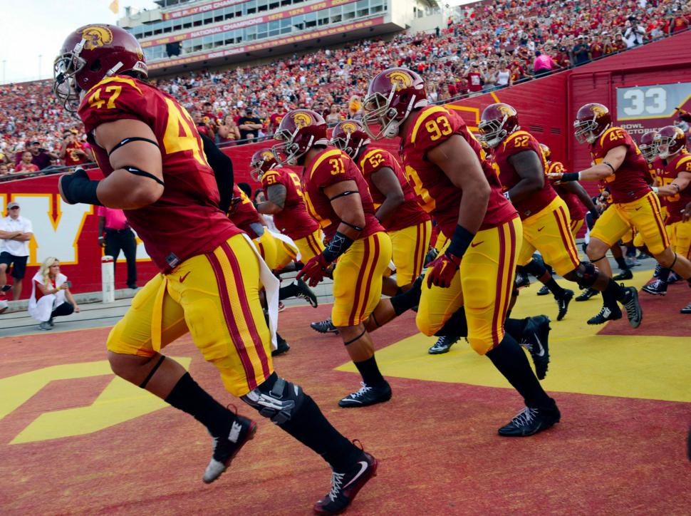 USC enters Coliseum