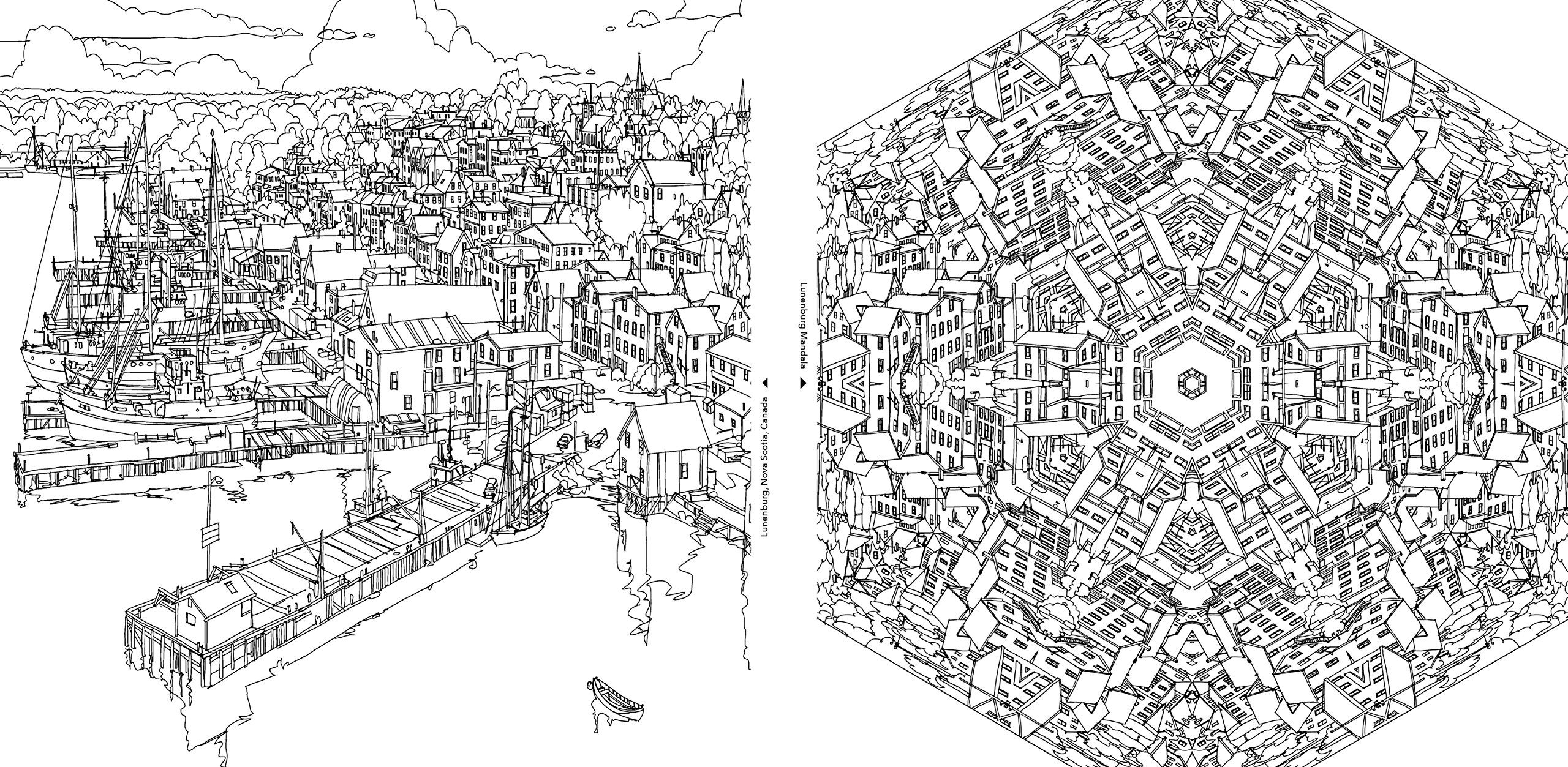 an extremely detailed coloring book for architecture lovers - Detailed Coloring Books