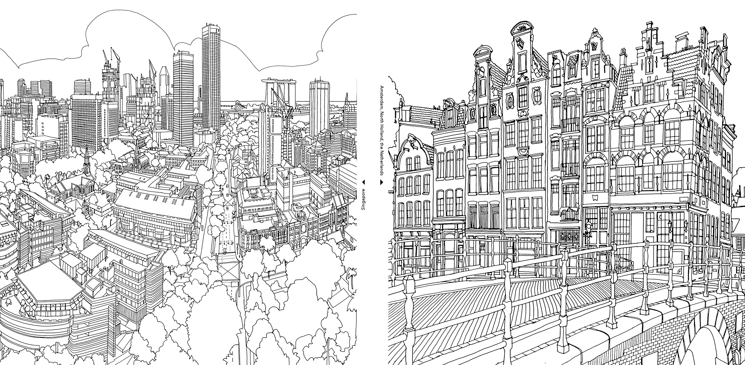 An extremely detailed coloring book for architecture Coloring books for adults on amazon