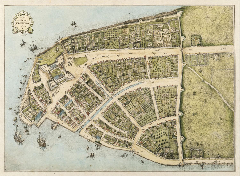 When Wall Street Was A Wall A 1660 Map Of Manhattan