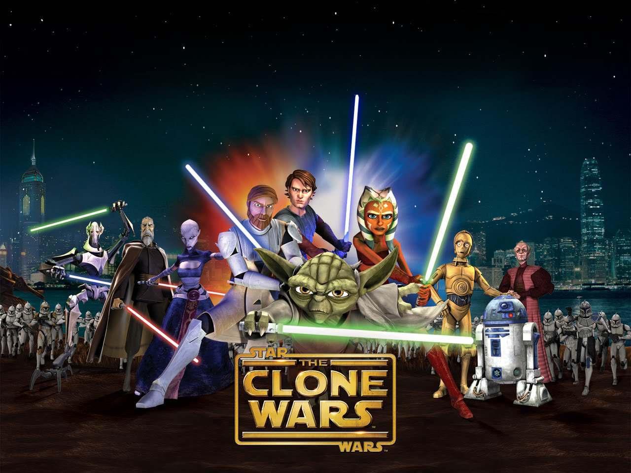 A poster for the Clone Wars animated series