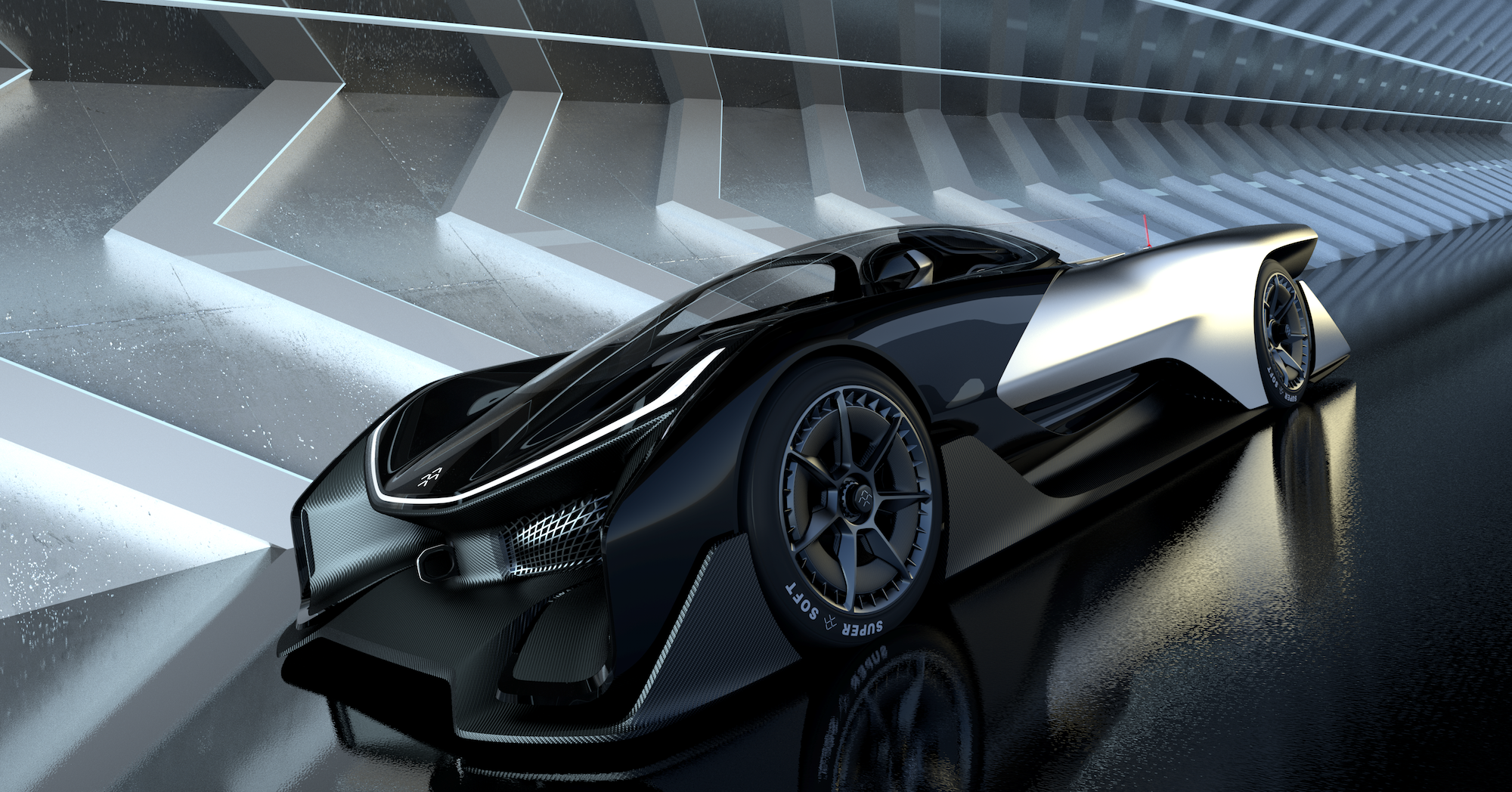 this is faraday future s ridiculous 1 000 horsepower electric concept car the verge. Black Bedroom Furniture Sets. Home Design Ideas