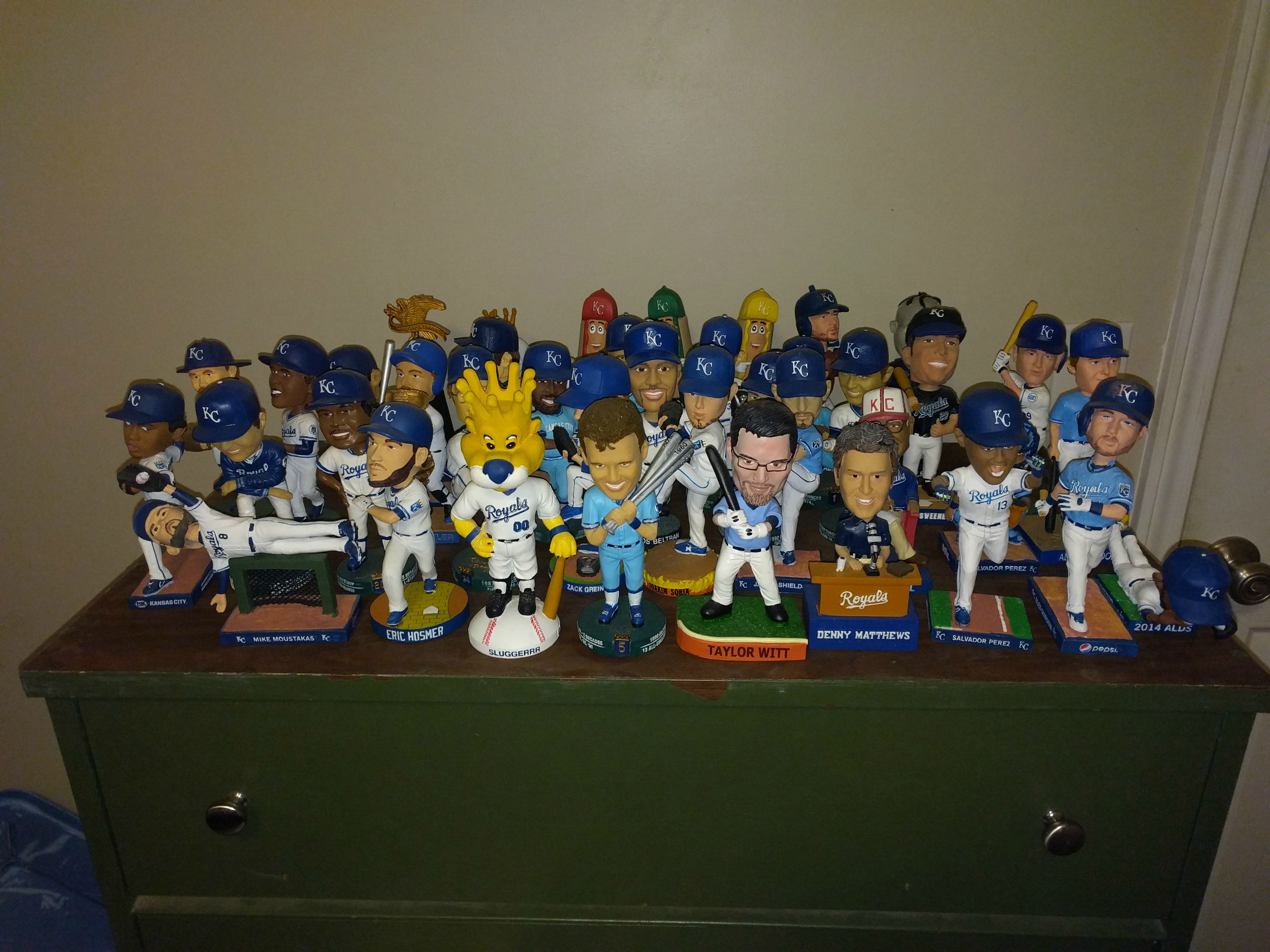 I finally completed my Royals bobblehead collection ...
