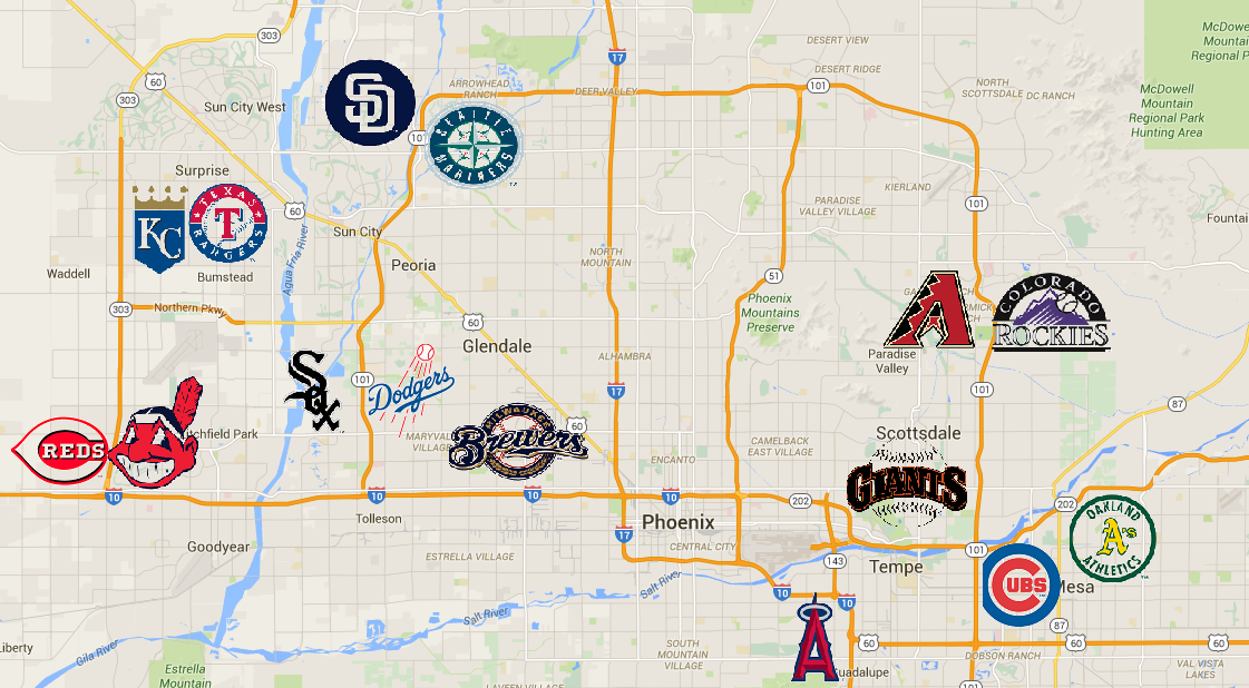 A Driver 39 s Guide To Arizona Spring Training Bleed Cubbie Blue