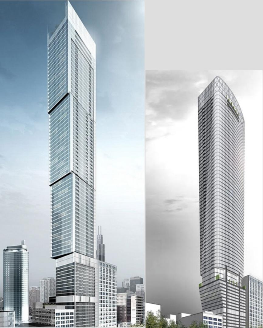 Helmut Jahn S Revised 1000 S Michigan Avenue Tower Breaks
