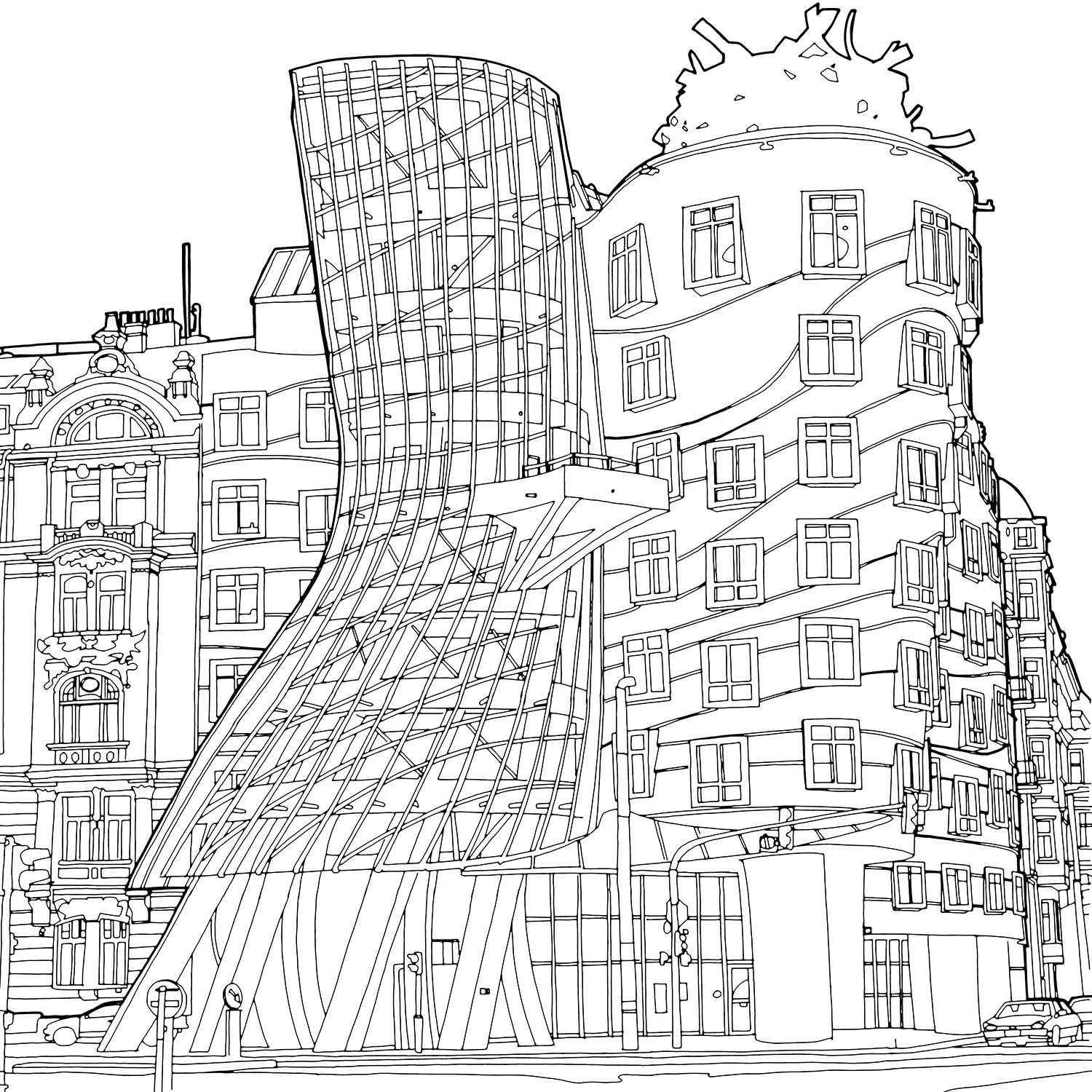 architecture coloring book pages | Stunning New Coloring Book Shines a Light on Global ...