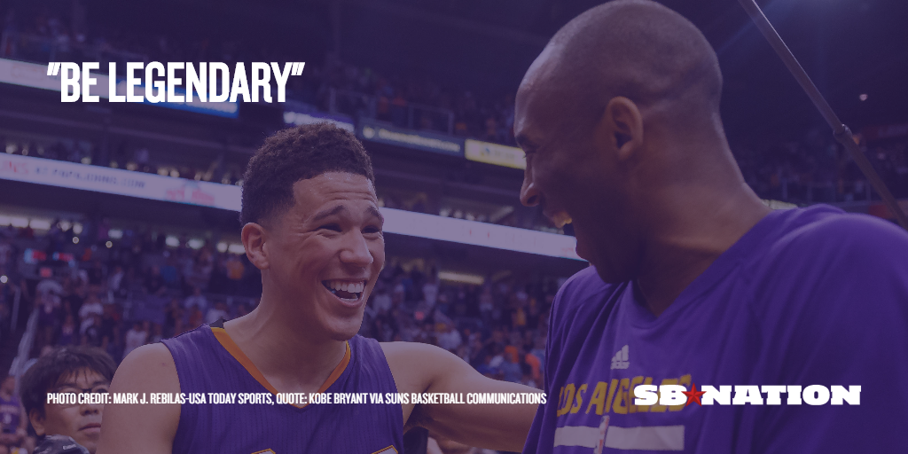 new styles 97a6d 797bc Kobe Bryant gave Devin Booker signed shoes and told him to ...