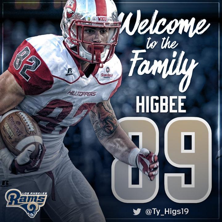 Tyler Higbee jersey number