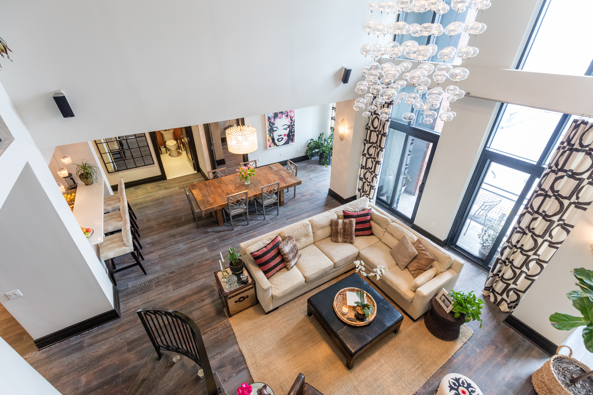 Looking Down On The Living Room. Photo By Max Touhey For Curbed.