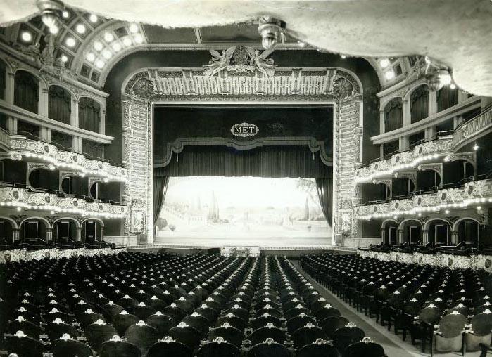 Old metropolitan opera house interior