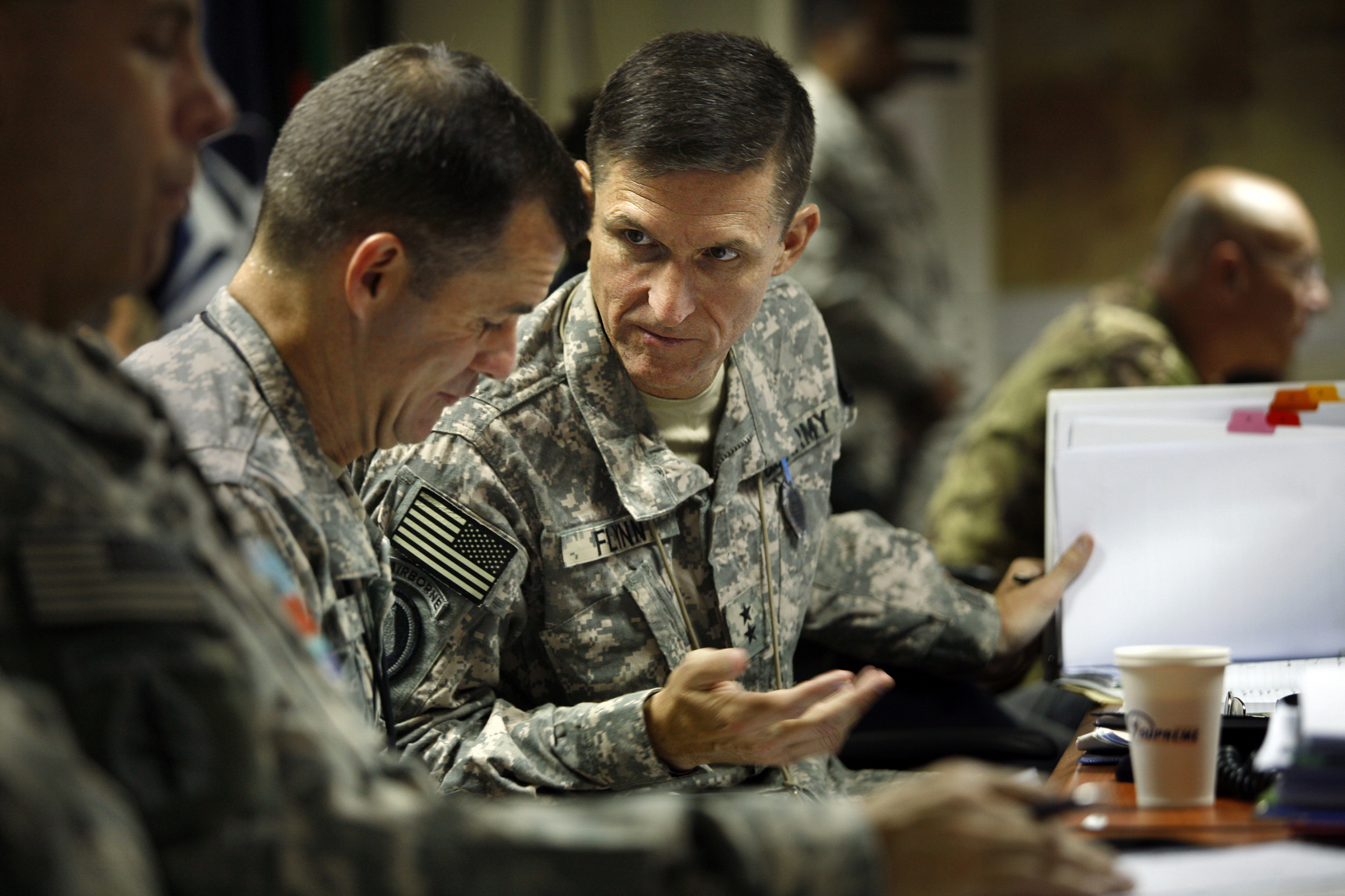 Image result for mike flynn and trump