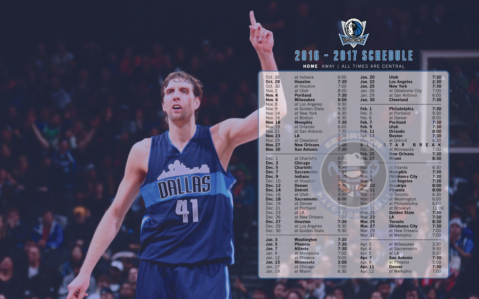 Wallpaper Schedule Click For Full Sized Image
