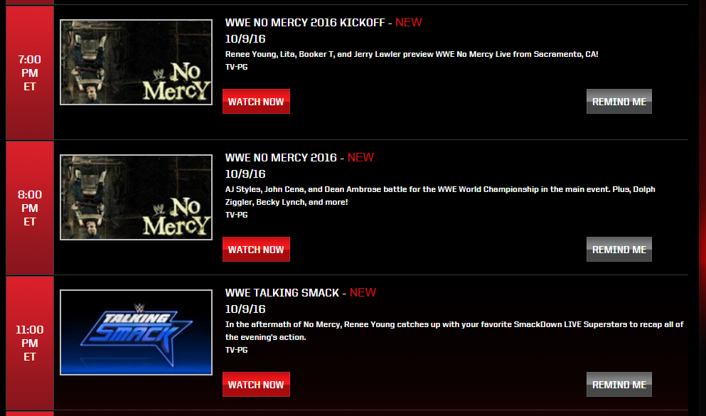 WWE No Mercy Preview and How to Watch