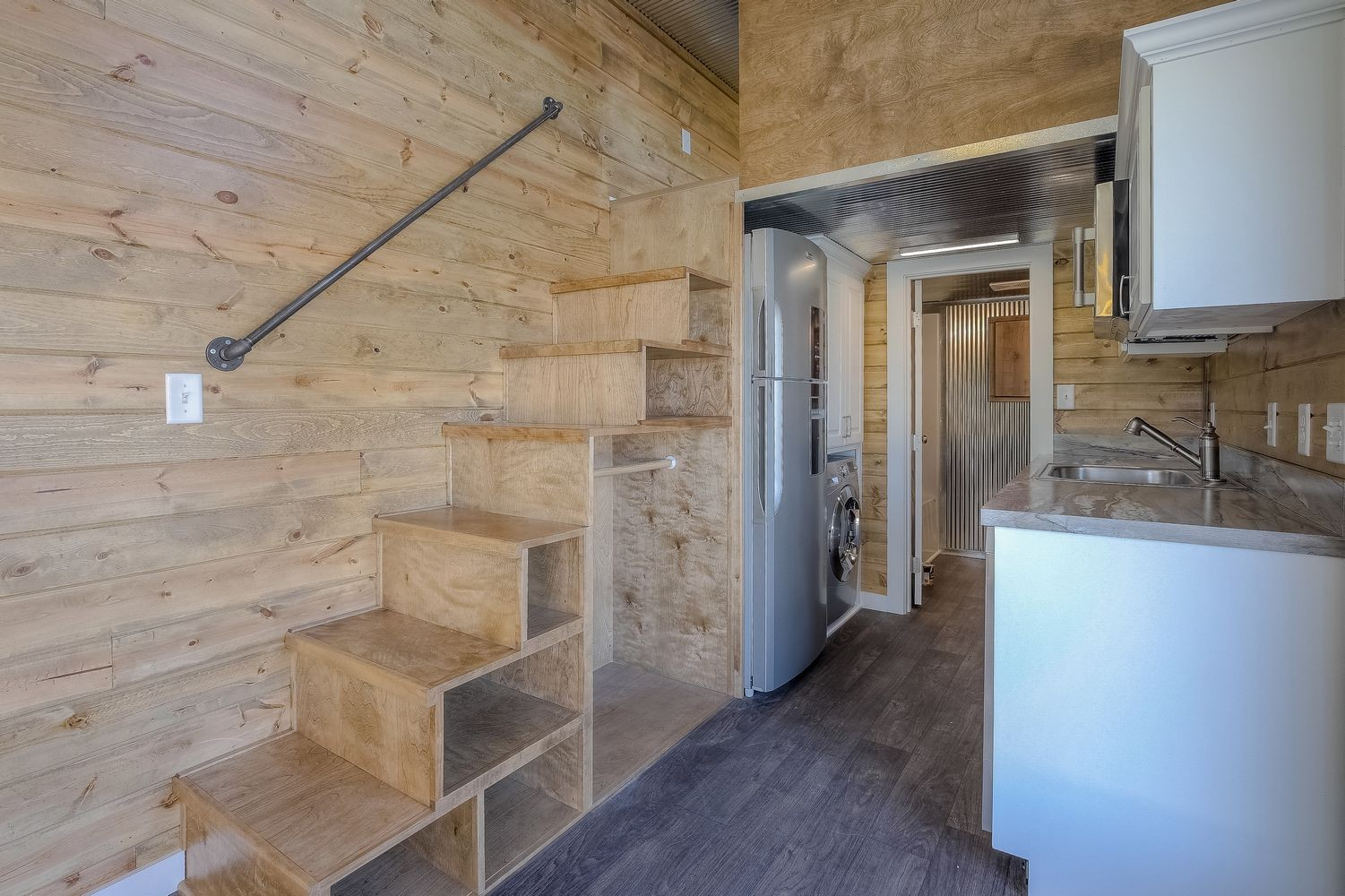 Slick Tiny House Converted From 40 Foot Shipping Container