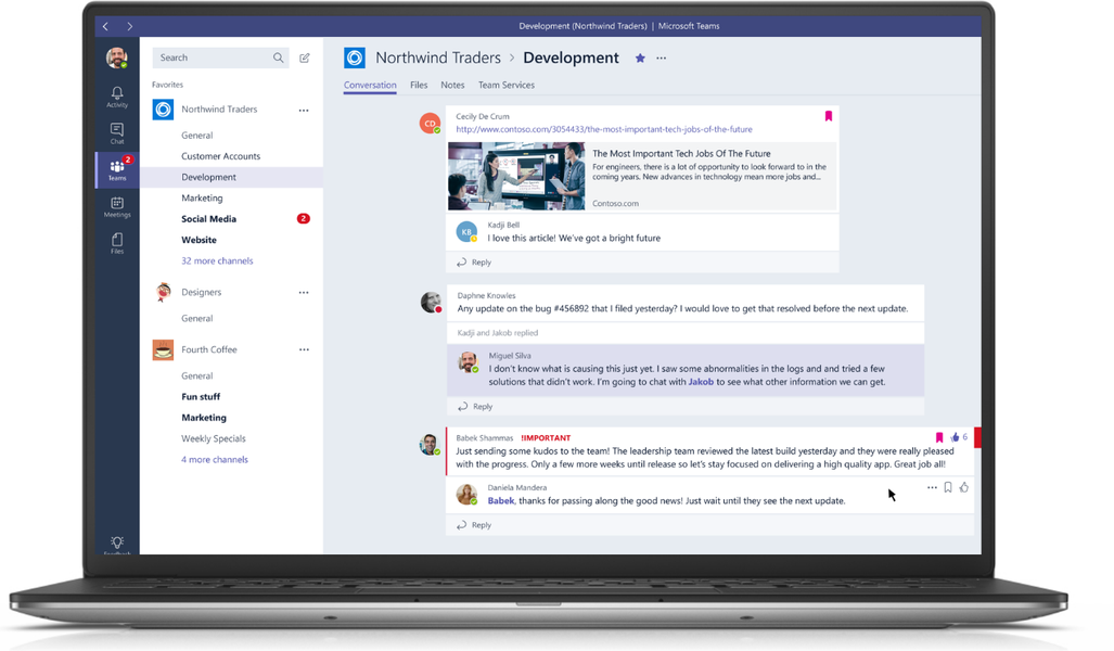 Microsoft Teams stock