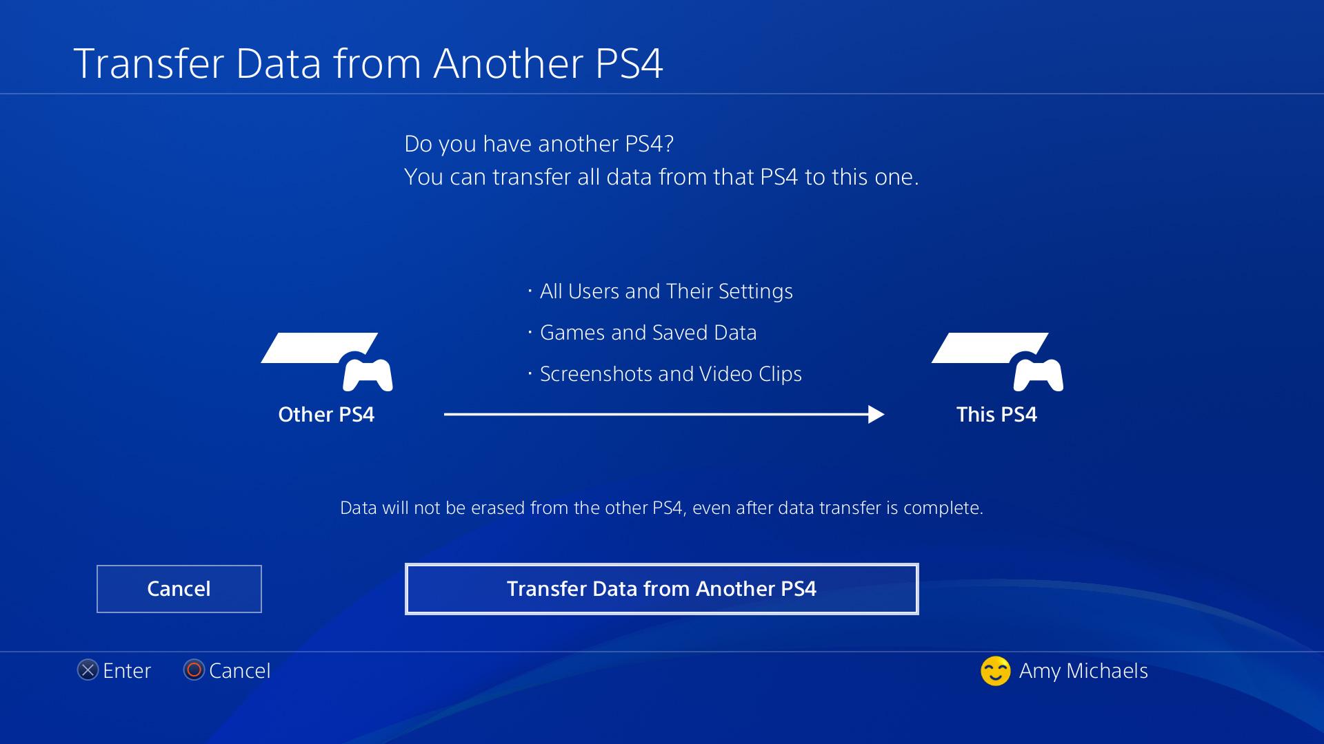 Transfer Ps4 Data