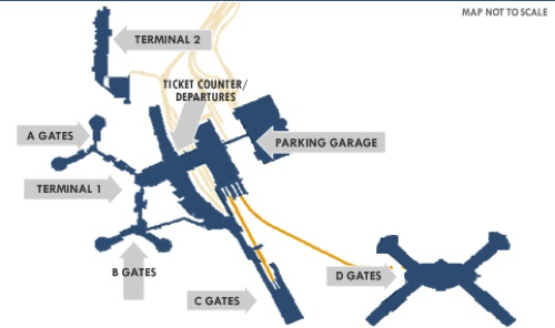 Las Vegas Airport Terminal Map Where To Eat at McCarran International Airport (LAS) — Summer 2019