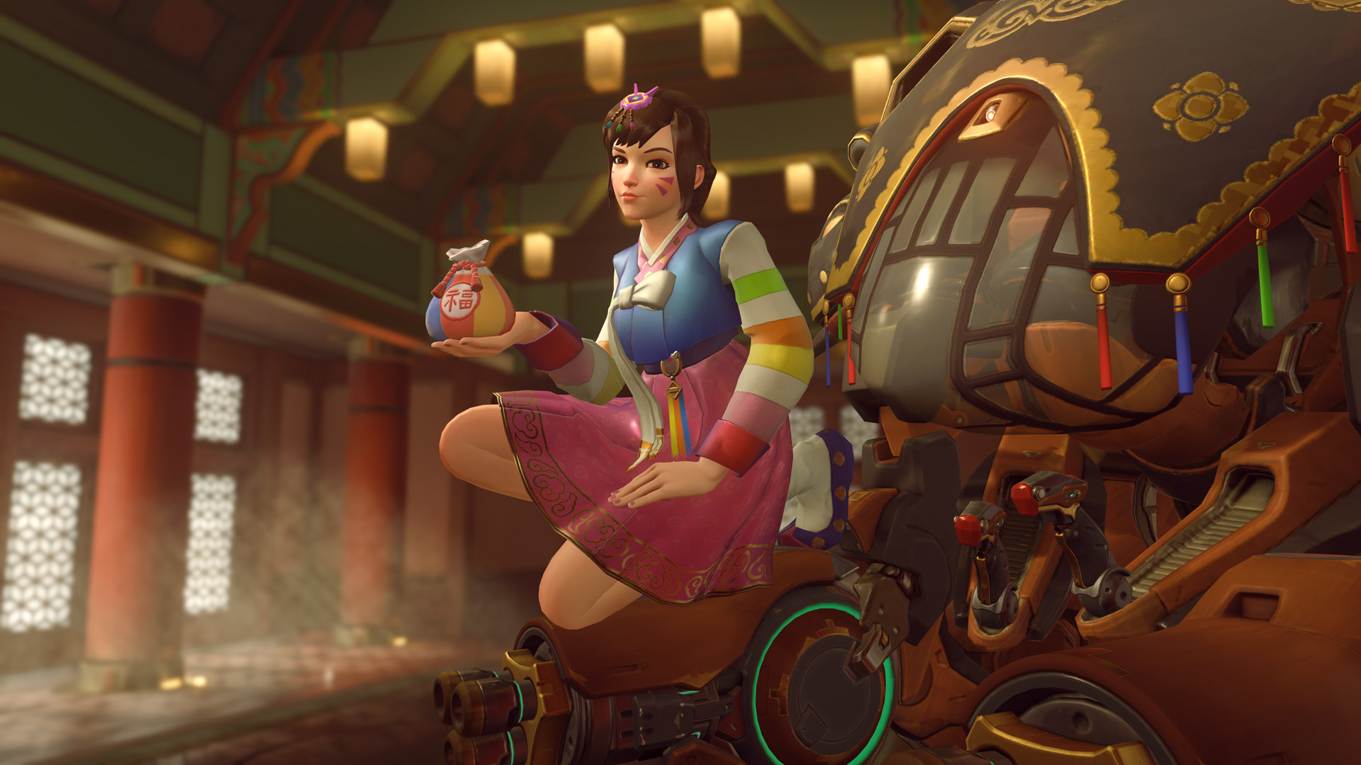 Overwatch character image in lunar new year event