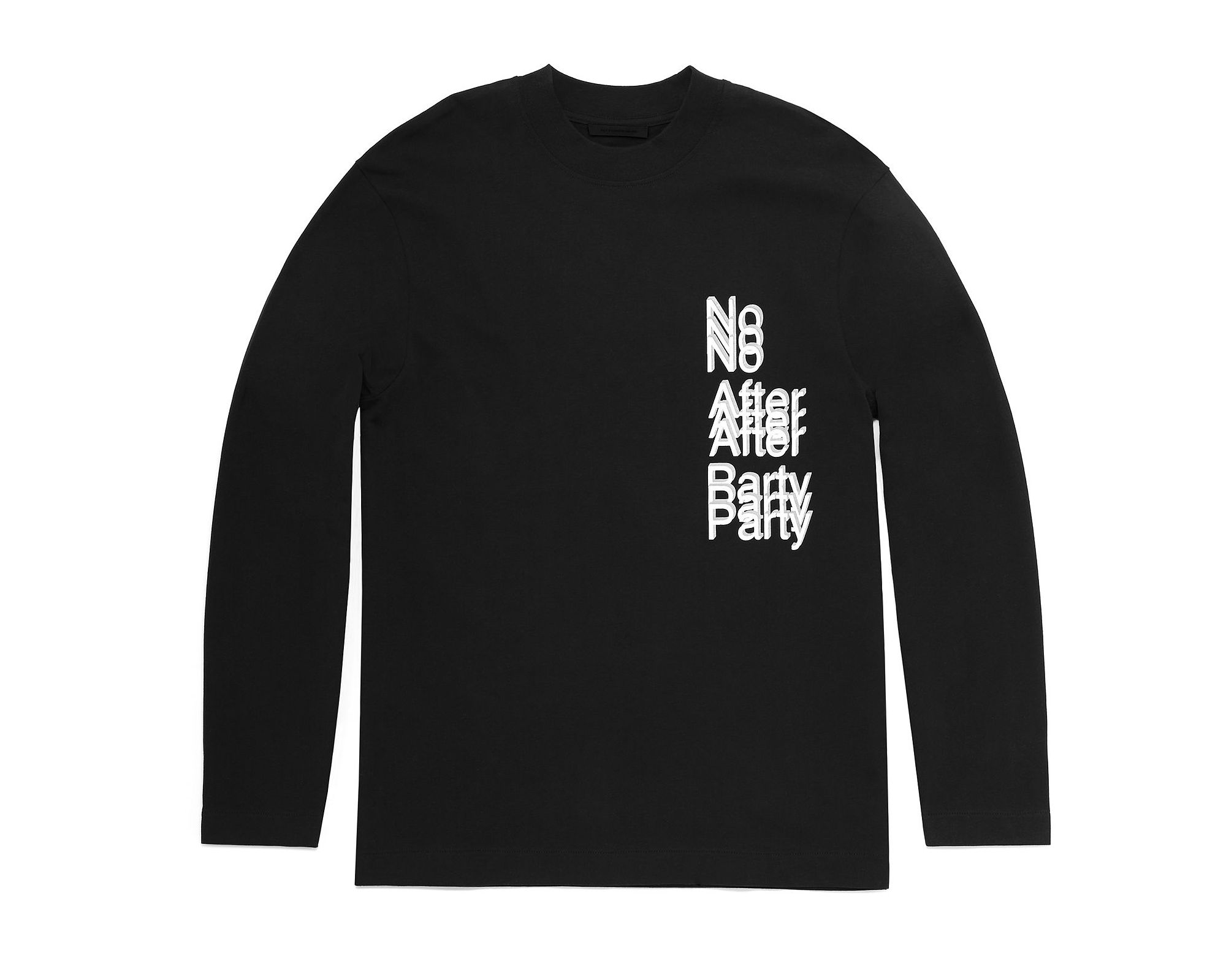 alexander wang s no after party capsule collection is shoppable alexander wang no after party long sleeve t shirt in black