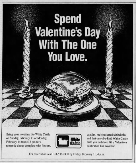 White Castle 2017: How White Castle Became An Unlikely Valentine's Day