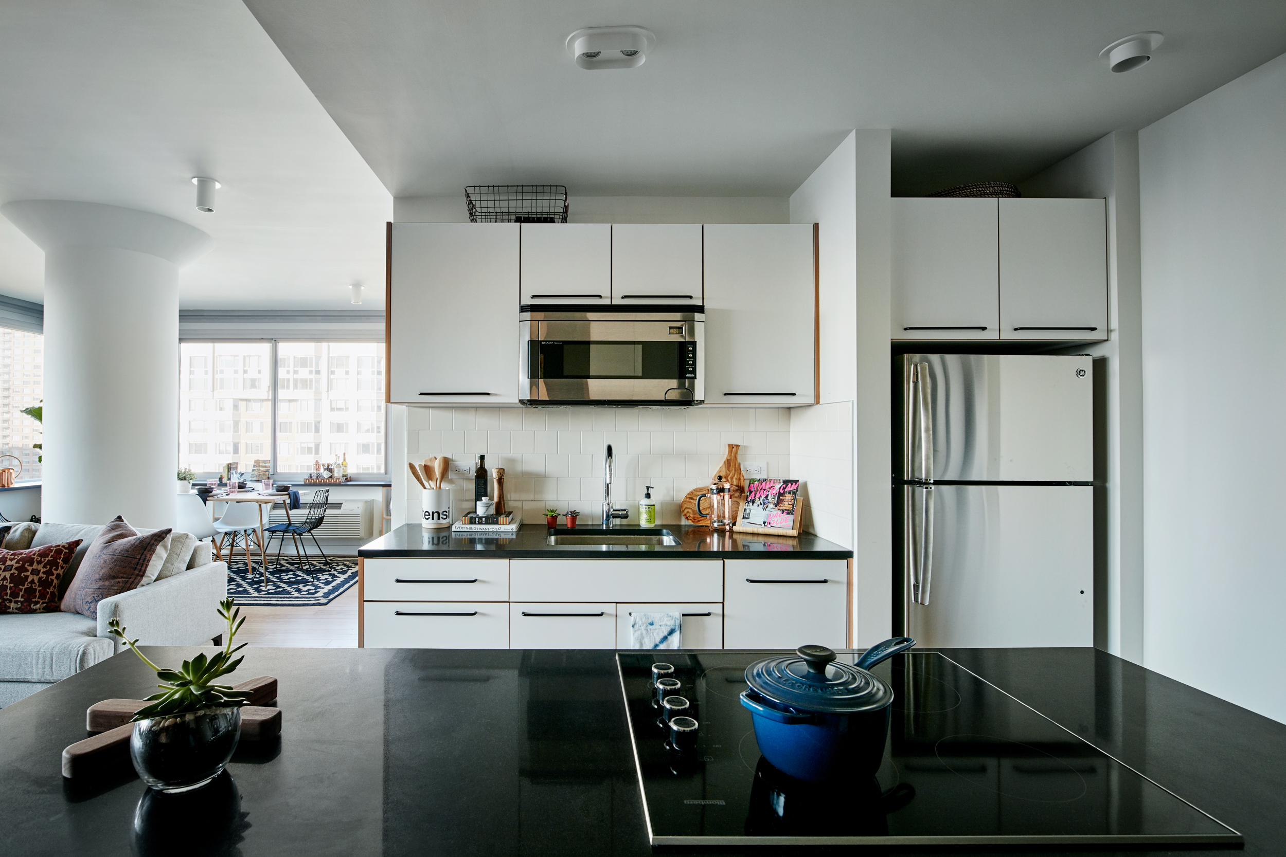 No Frills Here Inside Three Chic Manhattan Apartments On The City - Apartments inside kitchen